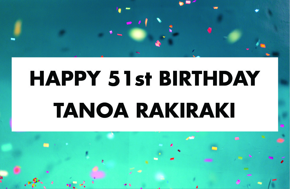 wording saying Happy 51st Birthday Tanoa Rakiraki Hotel