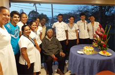 Tanoa Waterfront Hotel staff with Mr YP Reddy on his birthday
